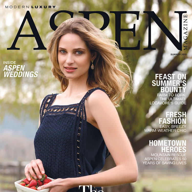 Aspen Magazine cover for Publicity Strategy